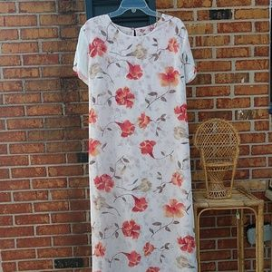 Impressions Woman's Sheer Long Lined Dress Size XL